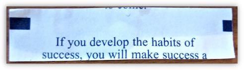 Habits Fortune Cookie