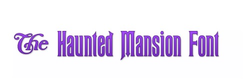Haunted Mansion Font