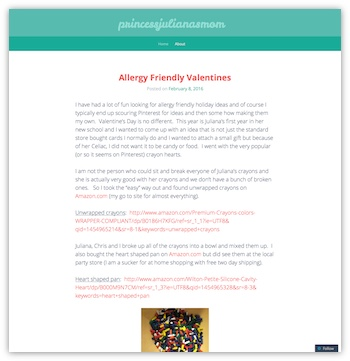 Princess Juliana Blog Website