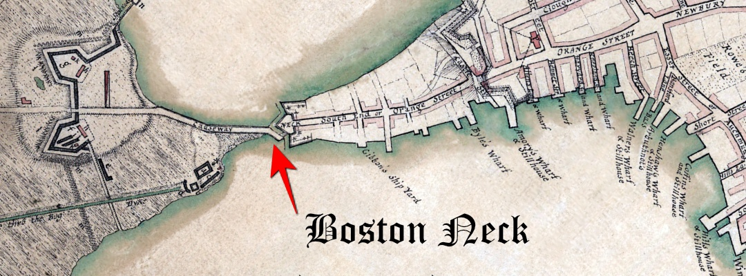 1775 Boston Neck Map