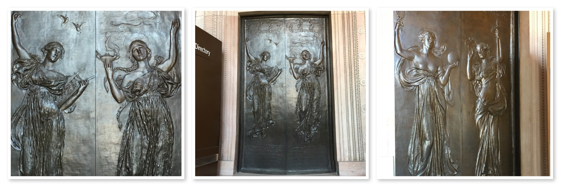 Click on image for a larger version. & Boston Public Library Bronze Doors