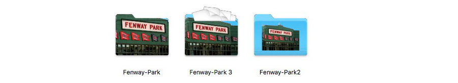 Fenway Folder Icons