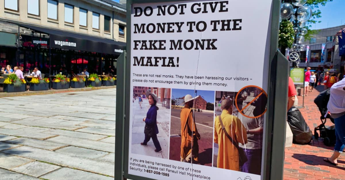 Fake Monk Mafia Boston