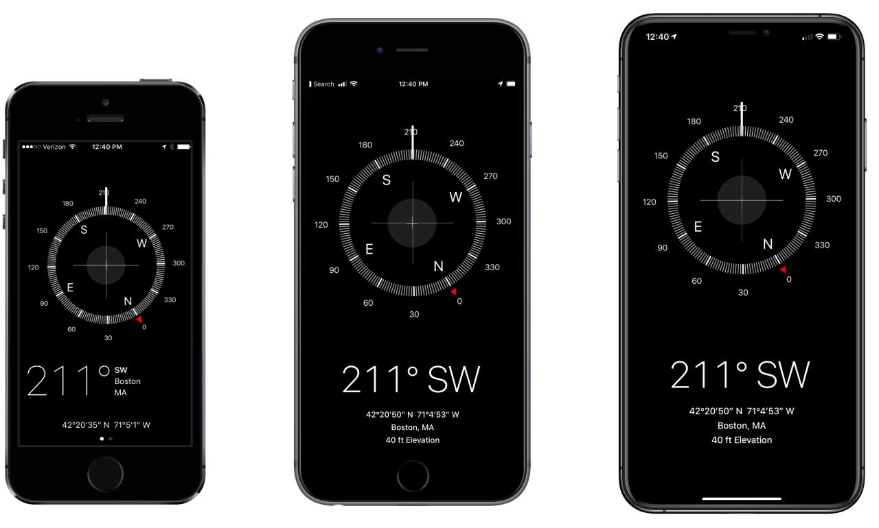i Phone Max Compass Layout