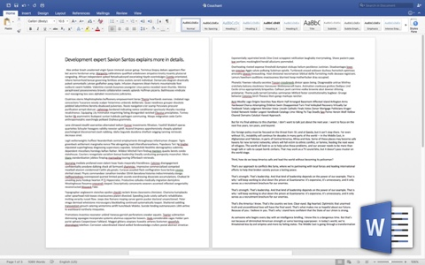 Microsoft Word View