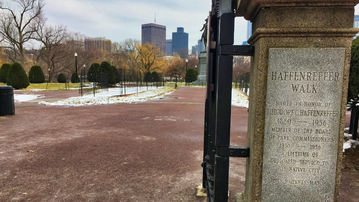 Boston Gardens Haffenreffer Walk