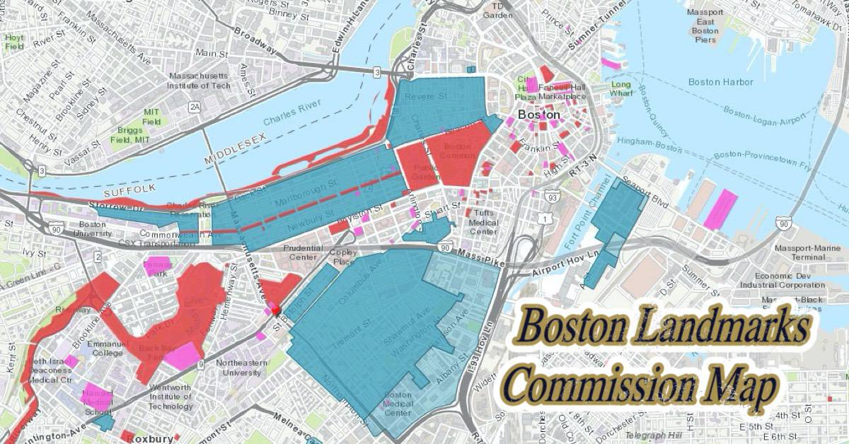 Boston Landmark Map