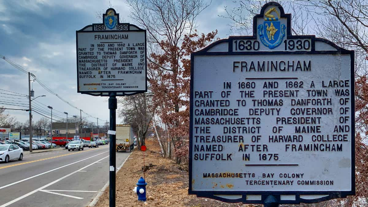 Framingham Sign Collage Fall