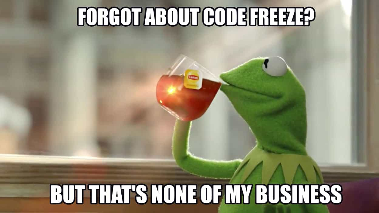 Kermit Code Freeze